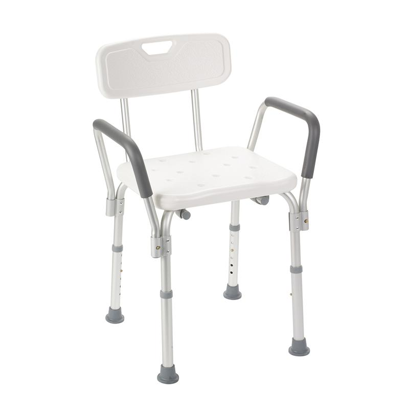 Bath Bench With Padded Arms And Back By Drive Medical: bath bench